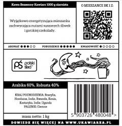 Kawa Bezsenny Kawiarz 60/40 1000g ziarnista