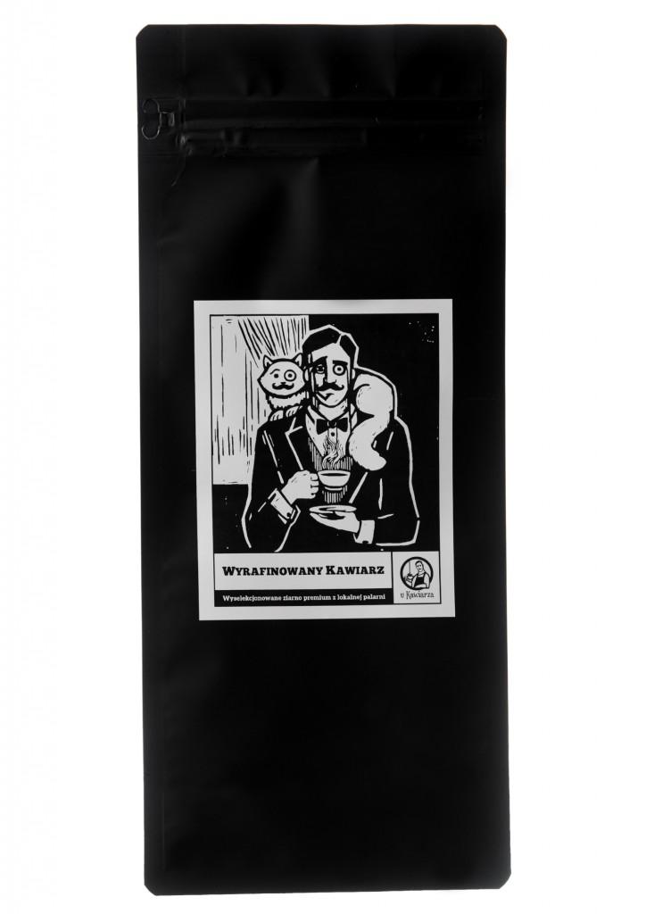Kawa Wyrafinowany Kawiarz 100% arabika 1000g ziarnista