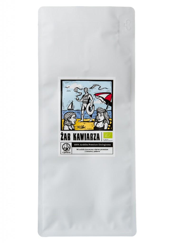 Kawa Żar Kawiarza 100% arabika organic 1000g ziarnista