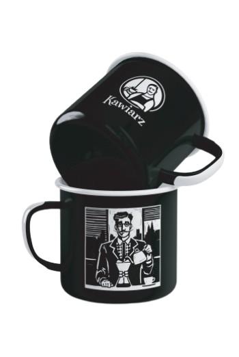 Kubek emaliowany Emalco Alternatywny Kawiarz