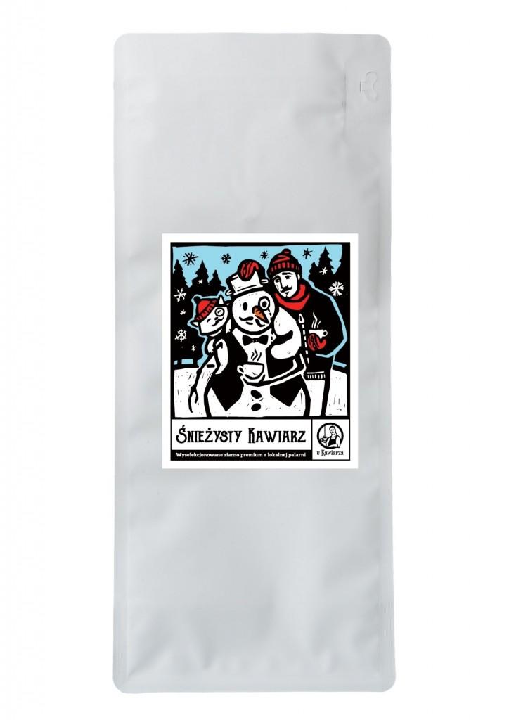 Kawa Śnieżysty Kawiarz 100% arabika 1000g ziarnista