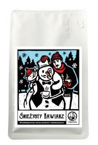 Kawa Śnieżysty Kawiarz 100% arabika 250g ziarnista