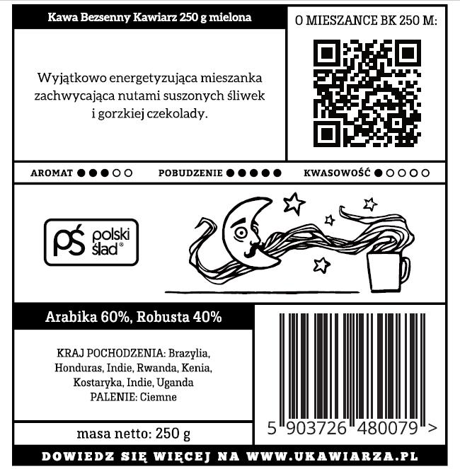 Kawa Bezsenny Kawiarz 60/40 250g mielona