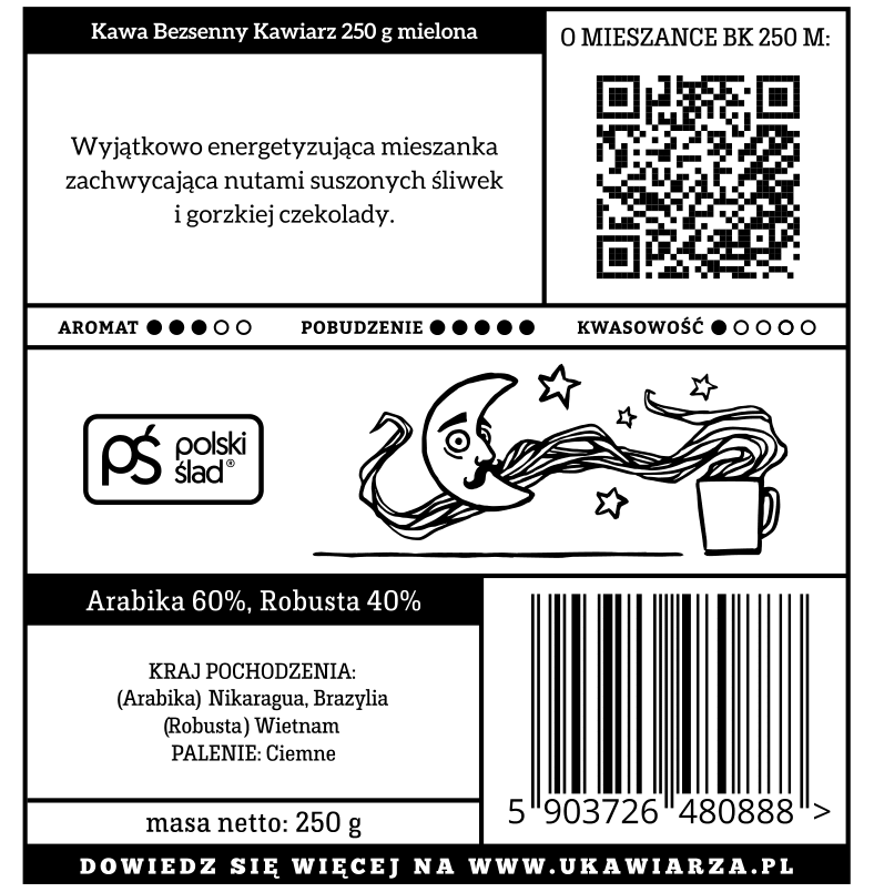 Kawa Bezsenny Kawiarz 2.0 60/40 250g mielona