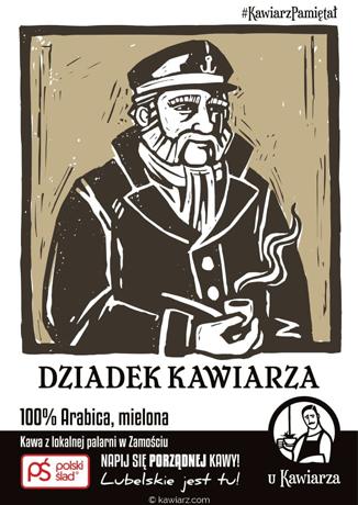 Dziadek Kawiarza 100% Arabica, mielona