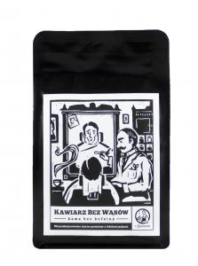 Kawa Kawiarz Bez Wąsów 100% arabika bezkofeinowa 250g ziarnista