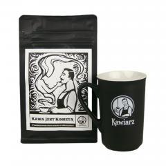 Zestaw Kubek + Kawa jest kobietą 250g ziarnista