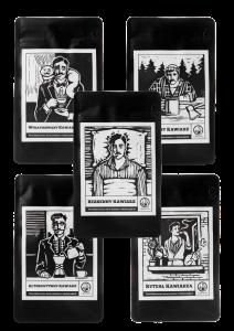 Zestaw kaw ziarnistych 5 x 250g Klasyki Kawiarza